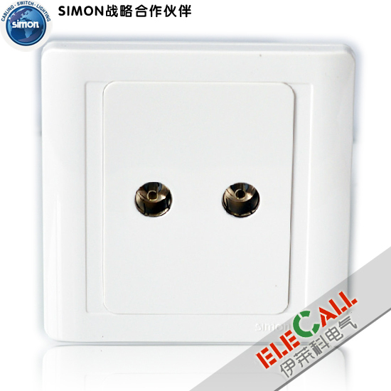 Simon Switch Jiajia 55 Series Dual Channel TV Socket N55119