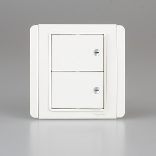 Qisheng E3000 White + Bai Schneider Qisheng Switch Socket Authentic Second Open Double Control Switch Panel
