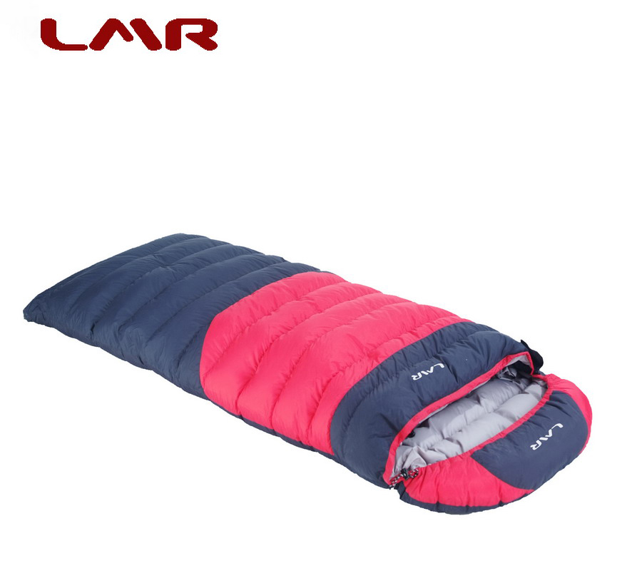 LMR authentic goose down sleeping bag Outdoor envelope type adult can fight 1500 grams winter comfort temperature -20 degrees