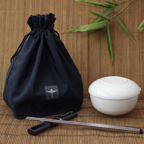 Carry-on bag blue rope can be made with elegant shape can be hung with wrist