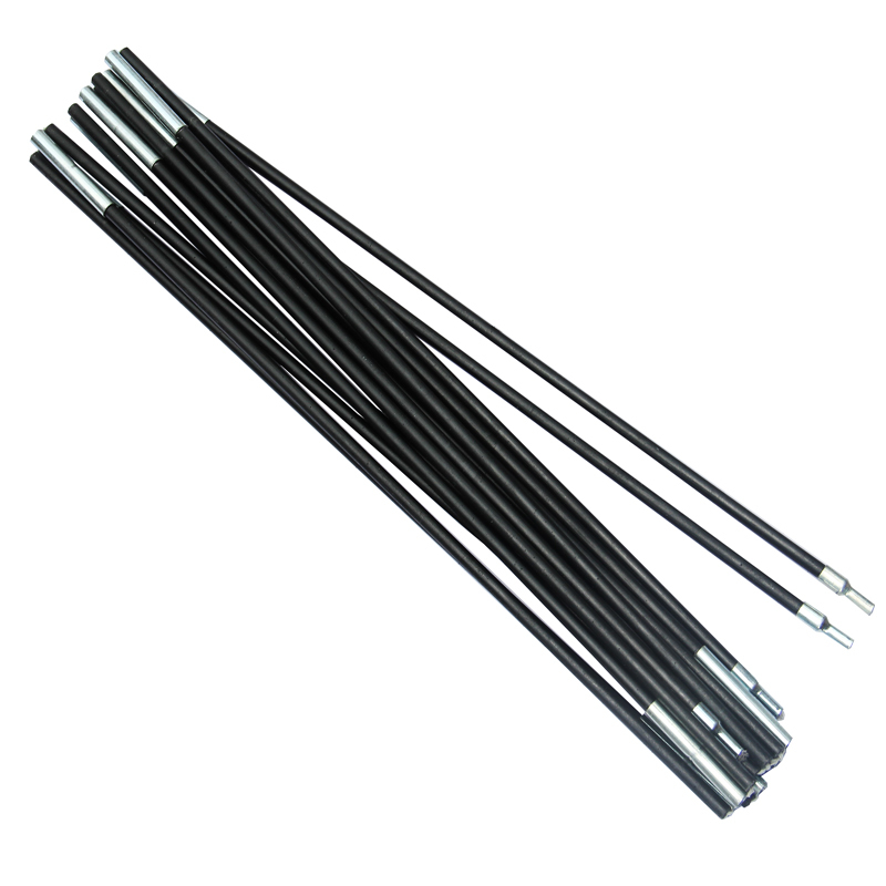 Wilderness Camping Outdoor Products Accessories 8mm Glass Rod Fiber Rods with Rubber Band Fit for Three Person Tent
