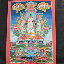 Nepalese mineral pigment hand-painted four-arm guanyin like Tangka painted tangka large