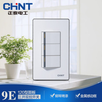 Zhengtai switch socket 120/Zhengtai socket/NEW9-E012A/Zhengtai three-open double-control switch
