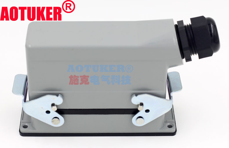 HDC-HE-024-1 M/F PG21 Heavy Load Connector H24B 24 Core 16A Side Outlet Double Button