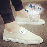The summer men's canvas shoes pedal shoes shoes lazy trend of Korean's casual shoes old Beijing shoes