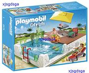 PLAYMOBIL плавательный бассейн с Terrace play SetPLAYMOBIL бассейн росы
