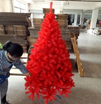 1.8 Big Red Christmas tree luxury encryption Christmas decorations boutique high-grade red Christmas tree