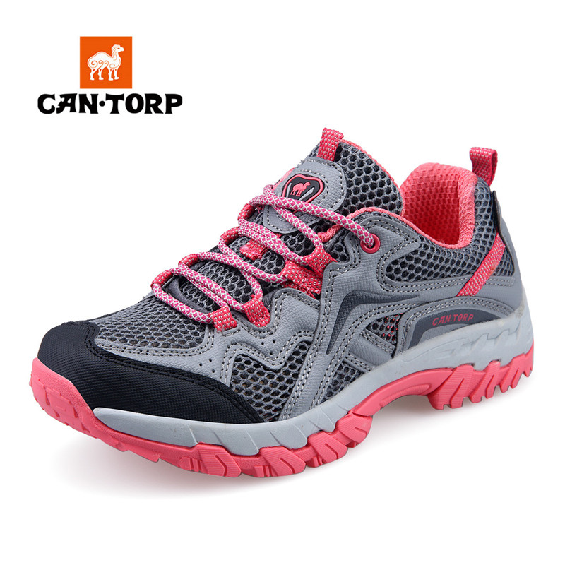 Cantorp Camel Mountaineering Shoes Female Genuine Spring and Summer Breathable Mesh Traceable Stream Shoes Outdoor Light Wading Shoes Male