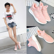 The new spring and summer 2017. The increase in leisure all-match Harajuku pink shoes female student breathable running shoes