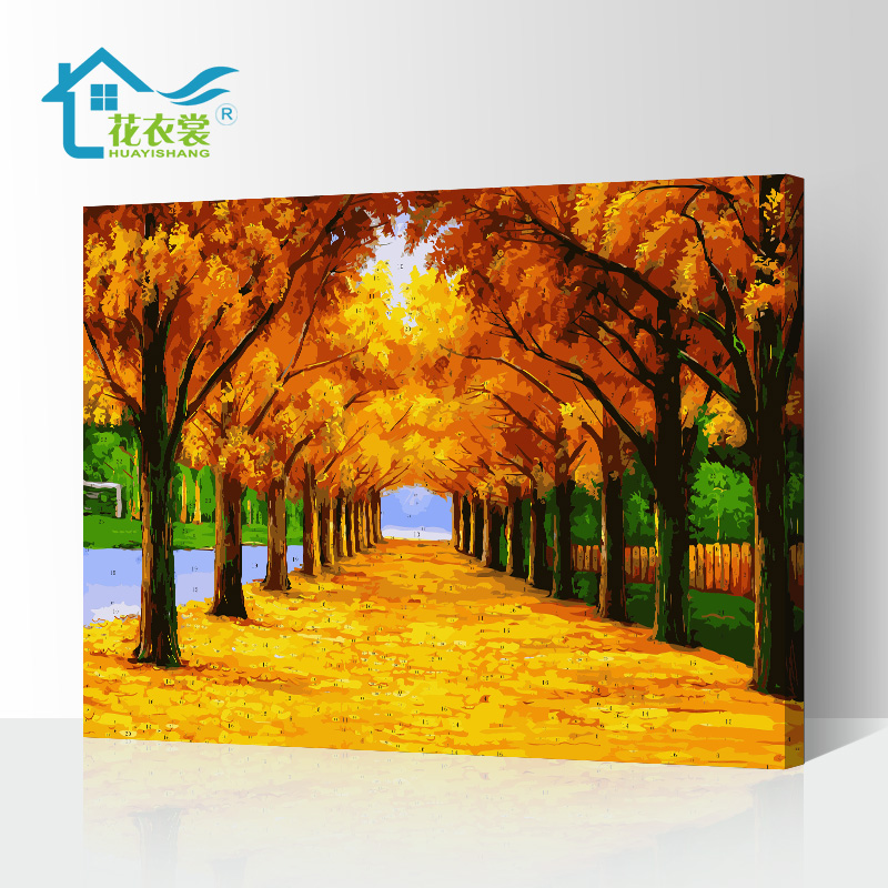 DIY Digital Oil Painting Living Room Landscape Flowers Characters Lovers Animation Creative Fashion Large-scale Hand-painted Decorative Painting