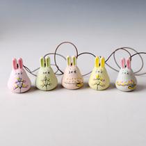 Jingdezhen céramique vent carillon voiture suspendus main-peint bon lapin pendentif voiture vent carillon ornements creative vent carillon Japonais