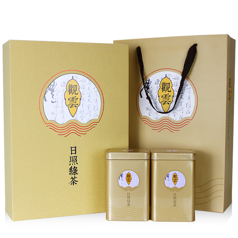 Tea, tea, tea, bar, tea, green tea, 2018 new tea, aroma, Shandong green tea, green tea gift boxed spring tea