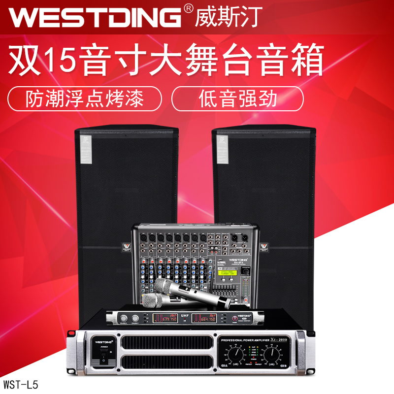 WESTDING Westin WST-2018 Professional Dual 15-inch Stage Audio Set High-Power Performance Speaker