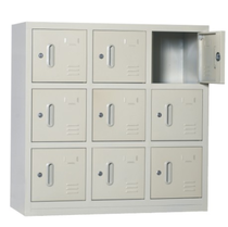 Lock small 9 door locker small 9 door shoe cabinet tin cabinet shoes and hats storage cabinet Shenzhen free Door