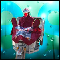 Electric tricycle motorcycle poncho adult unisex single plus raincoat Plus with cap riding poncho
