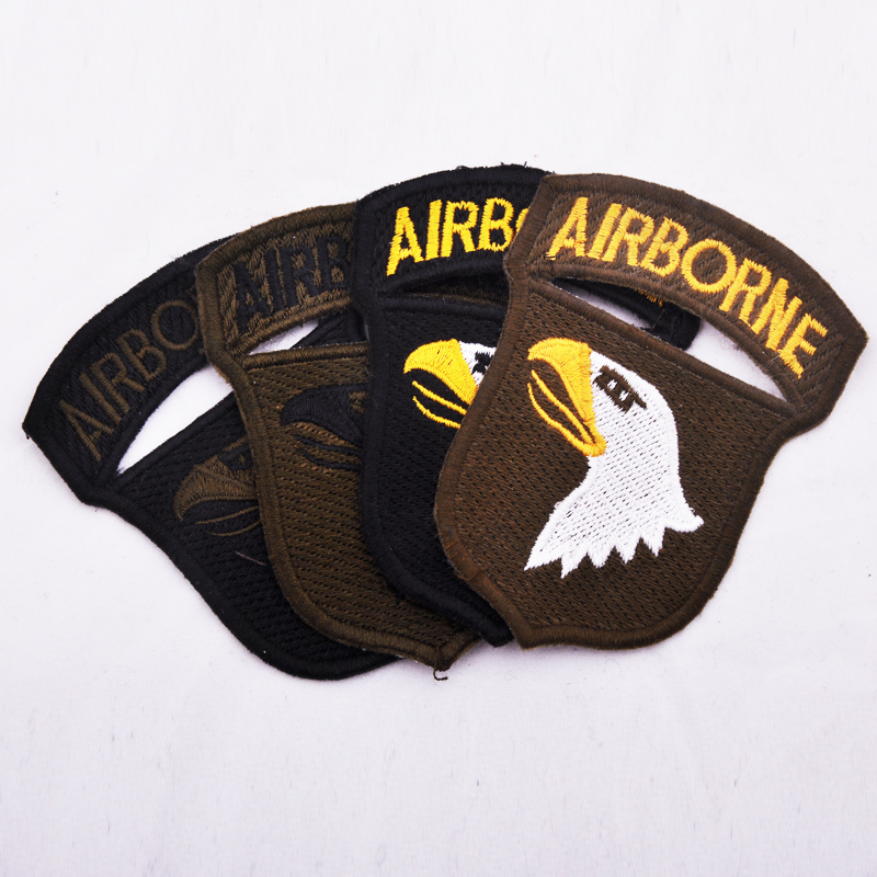 Free knight outdoor cloth standard eagle head armband air force 101 airborne division standard army fan tactical Velcro epaulette