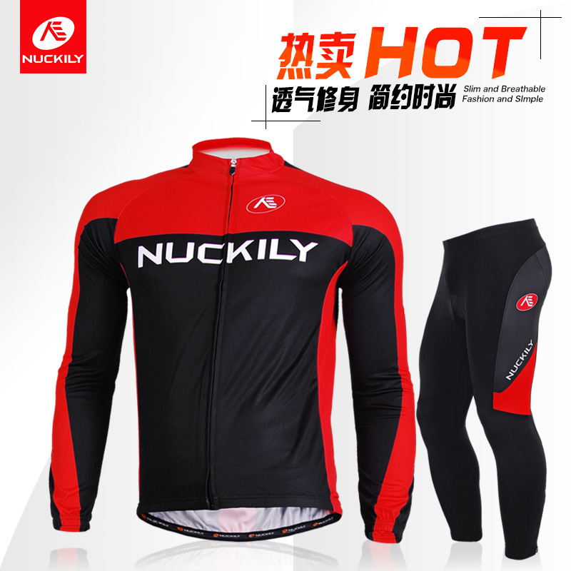 NUCKILY mountain bike spring and summer riding suit long-sleeved suit autumn and winter foreign trade brand team version customization