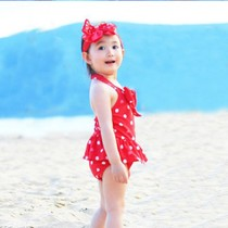 2 3 4 5 6 7 years old Siamese dress swimsuit girl pupil Princess baby child children cute swim wear
