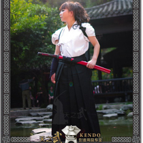 Tian Wu Spit blood Price high quality sword DAO dress white top + black pants skirt regular summer with cool Japanese sword Road