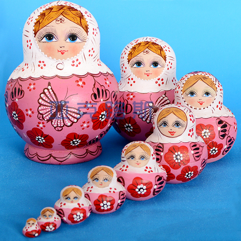 YAKELUS Authentic Basswood Original Genuine Gift Russian Matryoshka 10-layer 1071