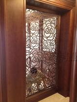 Ancient rhyme copper copper partition hollow copper carved screen copper flower grid real copper wire drawing lattice