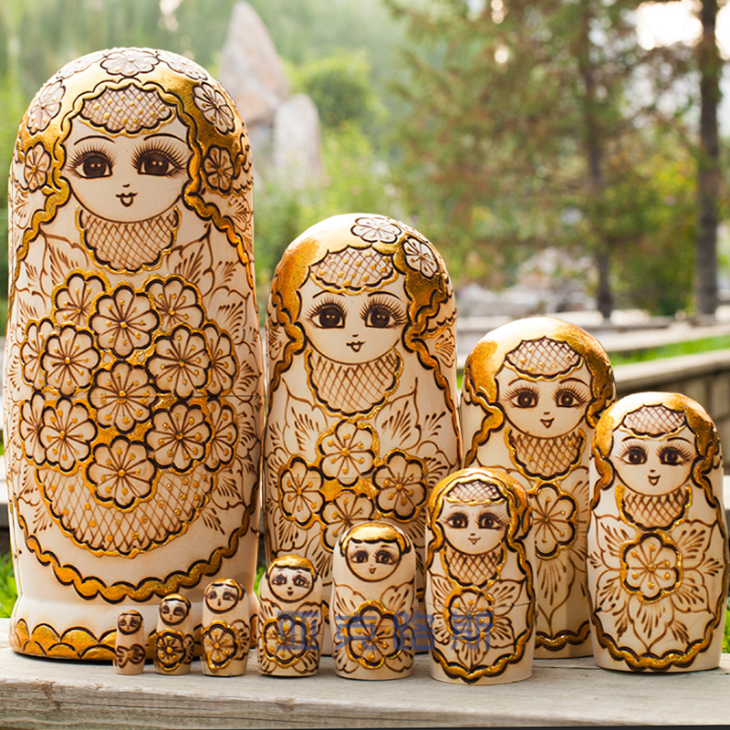 YAKELUS Authentic Basswood Original Genuine Gift Russian Matryoshka 10th Floor 1057