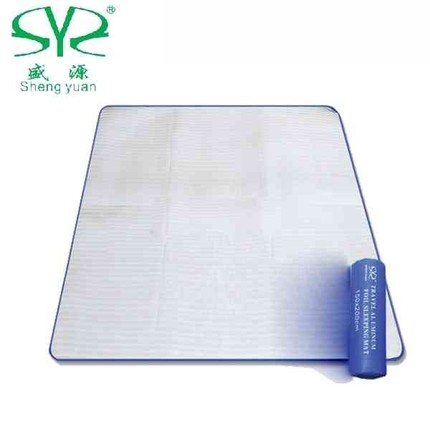 Shengyuan outdoor moistureproof mattress double multi-person aluminum foil mattress picnic mattress insulation mattress 1.5 m-2 M-3 M