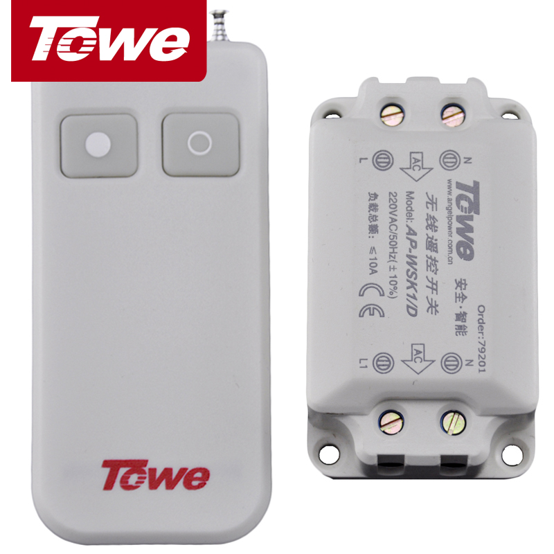 TOWE is also a remote control lamp switch. Wireless remote control 220V intelligent wireless household ceiling lamp power switch