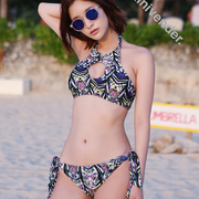 The New South Korean goods VIVI seaside vacation spot baroque style chic bikinis Bikini printing