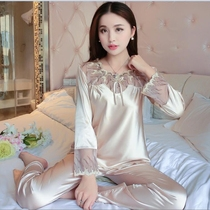Spring thin champagne color sexy Korean version sweet nightwear