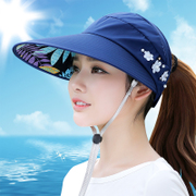 Female leisure summer hat all-match tide UV Korean spring summer folding sun visor cap