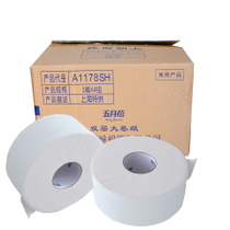 Mayflower Large Roll Paper plate paper toilet piece rice 600 g common roll paper toilet paper-12 rolls A1178SH