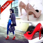 2017 spring and summer new high heels thin with shallow water table sexy small code 12cm red wedding shoes single shoes female