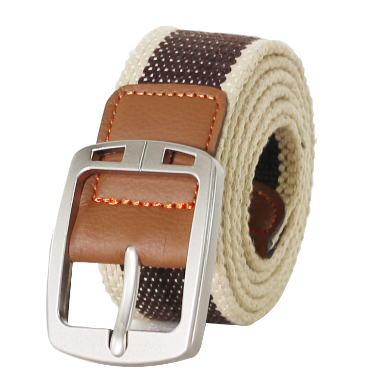 Canvas belt Men's general canvas belt casual business Jeans pin buckle belt