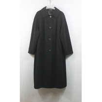 Chest 57 wonderful wool! Black vintage Japanese easing foreign trade wool coat and long coat winter Y1