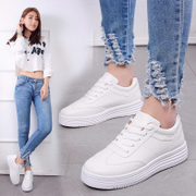 White shoes in the spring of 2017 new Korean students all-match shoes sports shoes and leisure shoes at the end of the summer thick sponge cake
