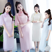 The cheongsam retro Chiffon Dress Bridesmaid Dress cheongsam fashion fresh daily