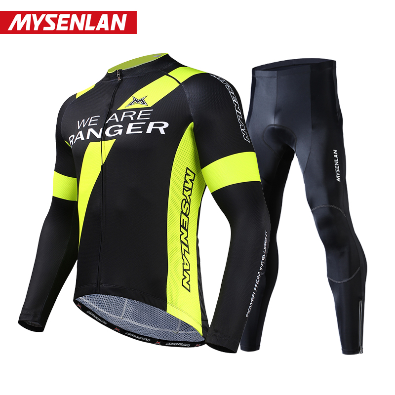 Meisenlan collar rider 峥嵘 riding suit suit long-sleeved men's bicycle clothing 2018 spring and summer riding equipment