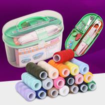 19-цветная нить портативная игла для рукоделия комплект швейных ниток домашний подарок избранный купить один подарок десять аксессуаров
