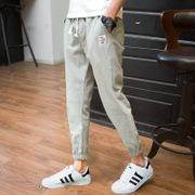 Summer men's casual pants pants pants Haren Korean male feet nine pants loose pants pants legs feet