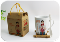 China Ping An life Pacific Xinhua Taikang Insurance Company Coffee Cup breakfast cup spoon gift cup wholesale