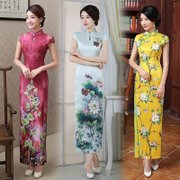 Cheongsam 2017 new spring and autumn fashion Chinese style long dress dress dress etiquette