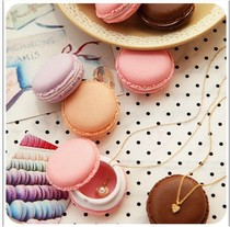 Macaron carry-on clutter jewelry storage box small object ring small box jewelry box C002