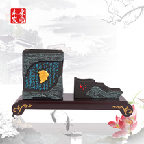YK Charcoal Carving teachers  Day gifts activated carbon pen Crafts ornaments Mao Zedong Qinyuan Spring Snow poems