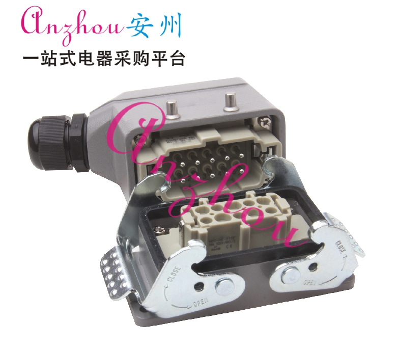 HDC-HE-010 heavy-duty connector HE-010-1 Side-out dual-buckle HDC-HE-010M F