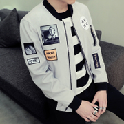 2017 new men's spring and autumn Korean Youth Baseball Jacket slim handsome jacket autumn clothes fashion