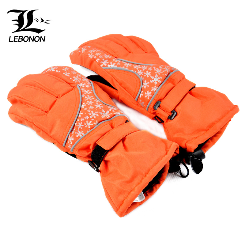 Outdoor thickened waterproof warm gloves Male and female autumn and winter riding ski gloves warm and windproof gloves