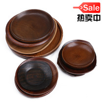 Japanese small wooden saucer fruit plate seasoning special dishes wooden creative bone disc wooden tableware round plate