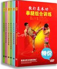 Sanda genuine teaching basic skills A full set of 6DVD martial arts teaching combat training video disc Sanda King