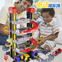Stereo smart city Car building Parking lot Toy Electric lifting track Children Christmas gift boy